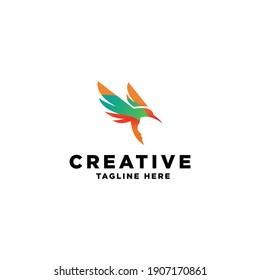 Abstract Flying Bird logo concept