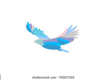 abstract flying eagle logo element