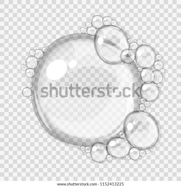Abstract foam, isolated on light background