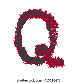 abstract font Q for many business up to customer design on website.