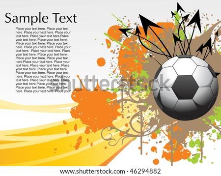 Abstract Football Background Grunge Arrow Sample Stock