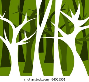 Abstract forest full of trees