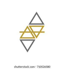 Abstract four Element Logo