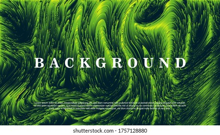 abstract fractal green background colorful 3d lines composed nature concept. Vector