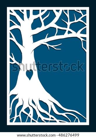 Abstract Frame Family Tree May Be Stock Vector Royalty Free