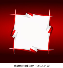 Abstract frame Japanese, Polish, Indonesian and Singaporean flag