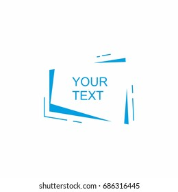 Abstract frame for text
