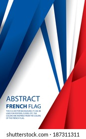Abstract France, French Flag (vector Art)