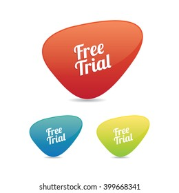 Abstract Free Trial Labels