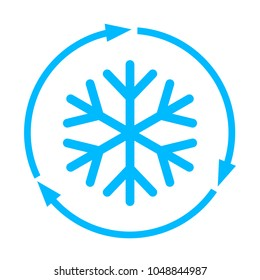 Abstract freezing vector flat icon illustration isolated on white background