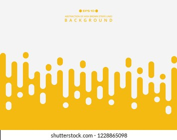 Abstract of fresh yellow color stripe lines pattern background, vector eps10