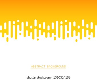 Abstract of fresh yellow color stripe lines pattern background, vector illustration