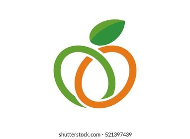 Abstract Fruit Logo Vector