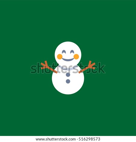 Abstract Funny Flat Style Christmas Snowman Stock Vector Royalty