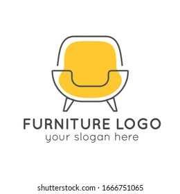 Abstract Furniture logo design template