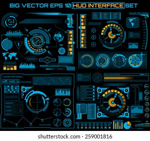 Abstract future, concept vector futuristic blue virtual graphic touch user interface HUD.