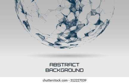 Abstract futuristic background with dots and lines. Vector illustration.
