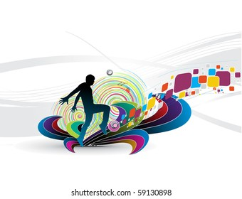 Abstract futuristic background of fresh and energetic background, Vector illustration.