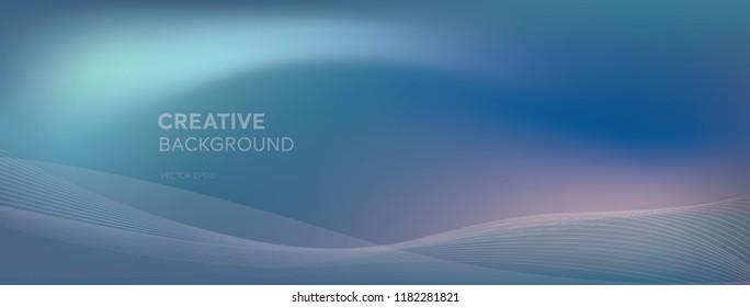 Abstract futuristic blend cool tone purplish blue dynamic creative banner background