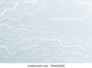 Abstract futuristic circuit board background. Hi-tech Illustration of digital technology. Graphic concept for your design.