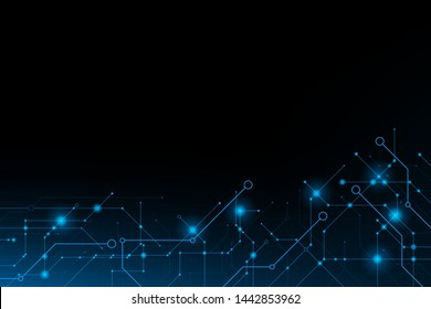 Abstract futuristic circuit connection board.vector and illustration