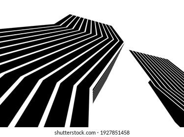 abstract futuristic city architecture  vector 3d illustration