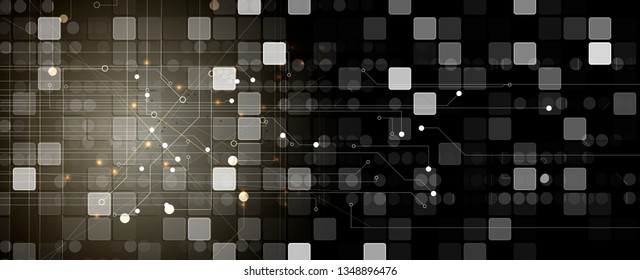 abstract futuristic  computer technology business background. Neural network