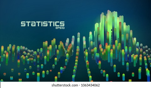Abstract futuristic data diagrams. minimal gradient lines infographic