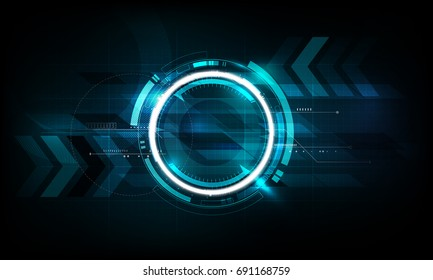 Abstract futuristic electronic circuit technology background concept, vector illustration