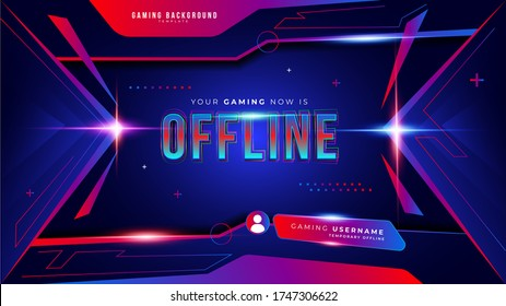 Abstract Futuristic Gaming Background for Offline Live Streaming Mode