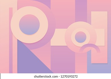 Abstract futuristic geometric gradient background in pink orange and purple palette