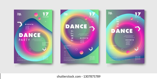 Abstract futuristic gradient background. Music poster , magazine cover . Modern geometric vector design.