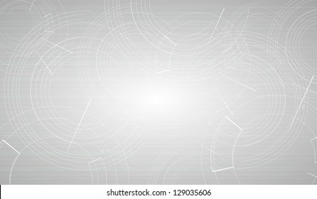 abstract futuristic grey circle line technology business background