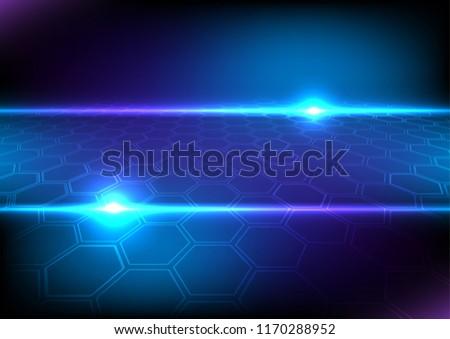 abstract futuristic hexagon light vector illustration stock vector