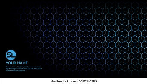 Abstract Futuristic hexagon vector illustration with HUD element and Illustration suitable for Backdrop .Technology concept.