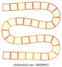 Abstract futuristic maze, pattern template for children's games, white orange squares on white background. Vector