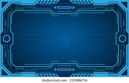 Abstract Futuristic Presentation Panel (Frame), Technology Display - Illustration Vector