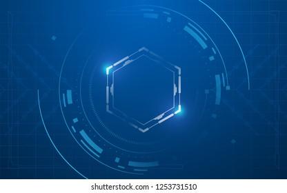 abstract futuristic tech concept design background eps 10 vector