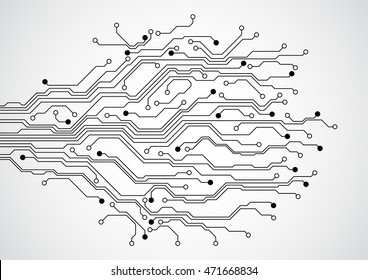 Abstract futuristic technology circuit board concept background , vector illustration