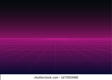 abstract futuristic technology cyber grid background vector illustration