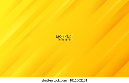 Abstract futuristic template geometric diagonal lines on yellow orange background. Modern tech concept. You can use for cover brochure template, poster, banner web, print ad, etc. Vector illustration