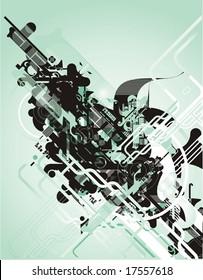 abstract futuristic vector design