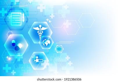 abstract futuristic vector medical blue wallpaper