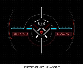 Abstract Futuristic Virtual Graphic Touch User Interface Design. Heads-Up Display - HUD. Sci-Fi User Interface. Vector Illustration.