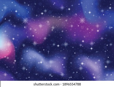 abstract galaxy. cosmos space and stars effect background. illustration vector.