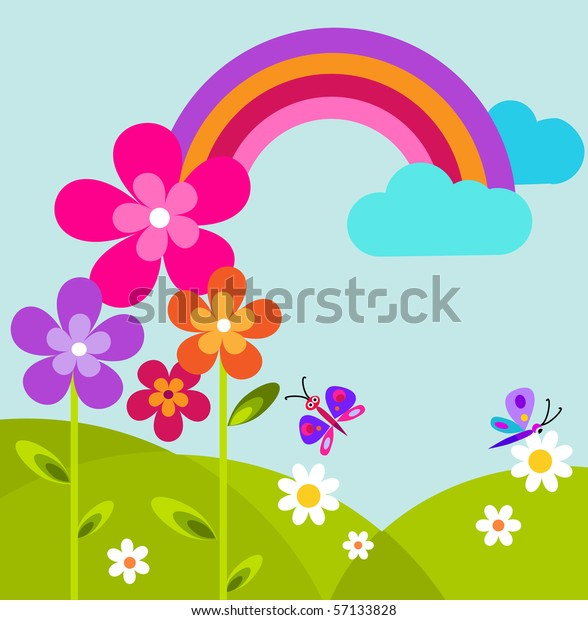 Abstract Garden erfly Rainbow Flowers Vector Stock ... on rainbow flower design, rainbow flower bulbs, rainbow flower weddings, natural pools and gardens, rainbow flower trees, rainbow grass, rainbow flower plants, rainbow flower art, rainbow flower arrangement, rainbow flower tattoos, rainbow colored flowers, rainbow flower roses, philadelphia magic gardens, rainbow photography, rainbow flower cake, rainbow nature, beautiful spring gardens, rainbow flower paintings, rainbow fields, rainbow flower landscape,