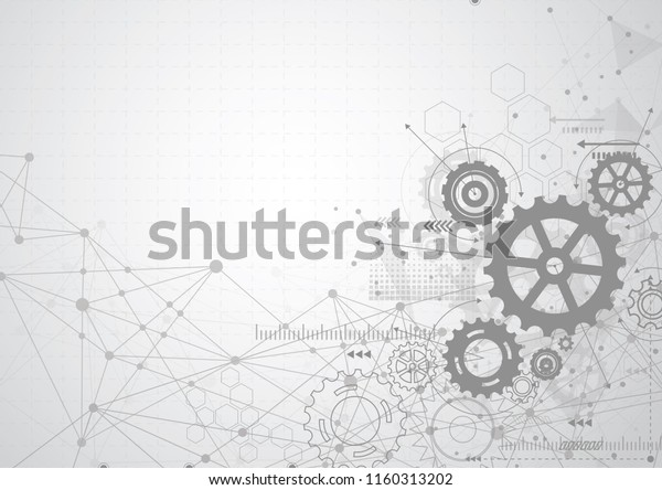 Abstract Gear Wheel Mechanism Background Machine Stock