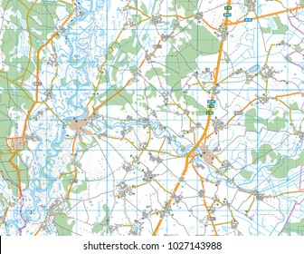 Abstract geographical map. Color vector image