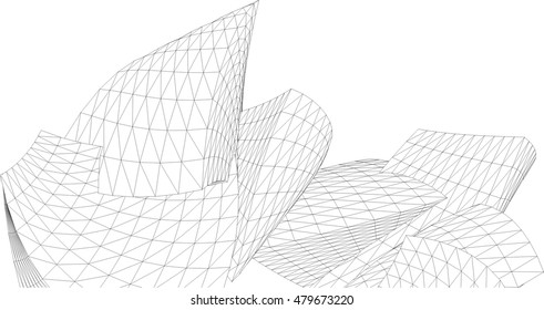 abstract geometric architectural background