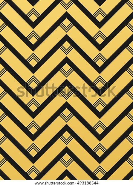 Abstract geometric Art Deco pattern. Seamless vector background.Chevron pattern